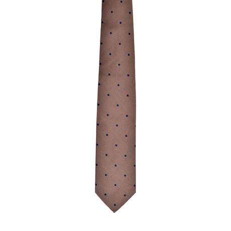 Dotted Silk Tie // Light Brown