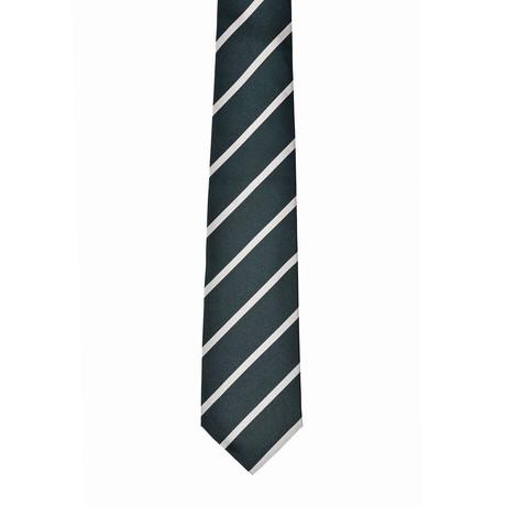 Striped Silk Tie // Green