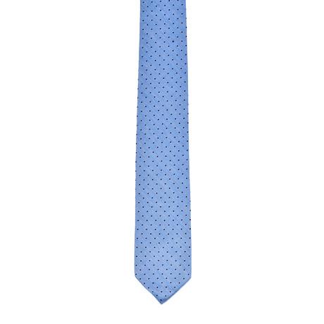 Gabardine Spots Tie (Light Blue)