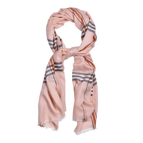 Cashmere + Silk Blend Woven Scarf // Multicolor