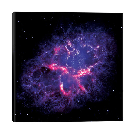 "Composite View Of The Crab Nebula // NASA (26""W x 26""H x 1.5""D)"