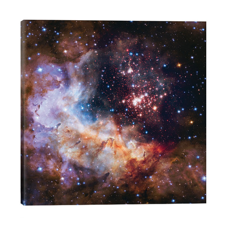 """Celestial Fireworks, Westurland 2 (Hubble Space Telescope 25th Anniversary Image) // NASA (26""""W x 26""""H x 1.5""""D)"""