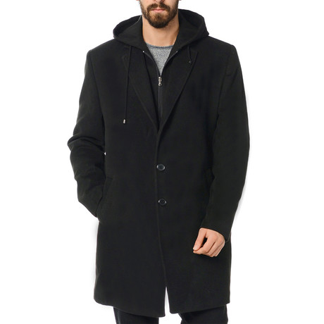 Detroit Overcoat // Black (Size 56)