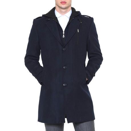 Siena Overcoat // Dark Blue (Medium)
