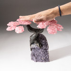 The Love Tree // Custom Rose Quartz Clustered Gemstone Tree on Amethyst Matrix // V8