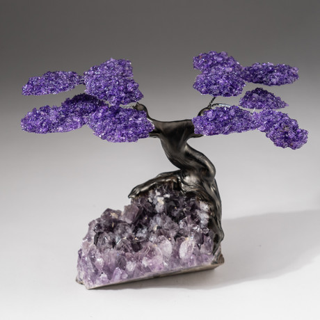 The Protection Tree // Custom Amethyst Clustered Gemstone Tree on Amethyst Geode Matrix
