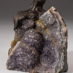 The Love Tree // Custom Rose Quartz Clustered Gemstone Tree on Amethyst Matrix // V12