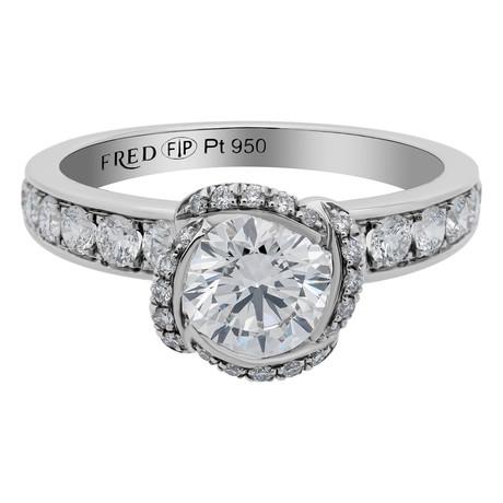Fleur Celeste Platinum + Diamond Ring // Ring Size: 6.5