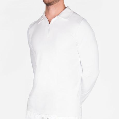 Elton Long Sleeve Polo // White (Small)
