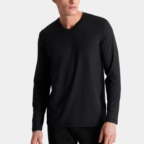 Chandler V Neck Long Sleeve // Black (Small)