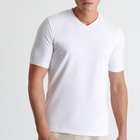Dante V Neck T-Shirt // White (Small)
