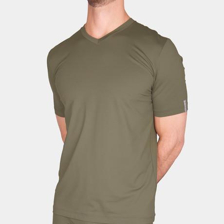 Milo V-Neck T-Shirt // Military (Small)