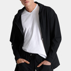 Full Zip Hooded Jacket // Black (Small)