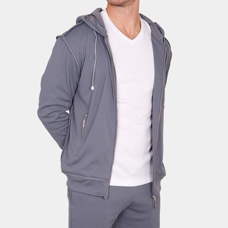 Adam Zip Up Jacket + Pockets // Gray (Small)