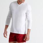 Ross V Neck Long Sleeve // White (Small)