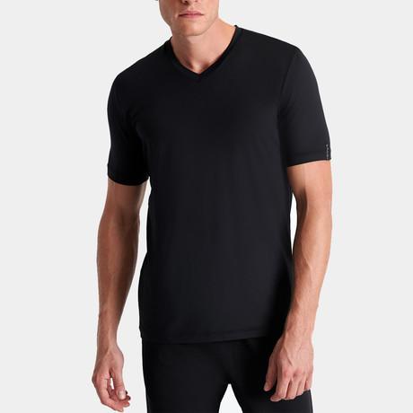 Dominic V Neck T-Shirt // Black (Small)