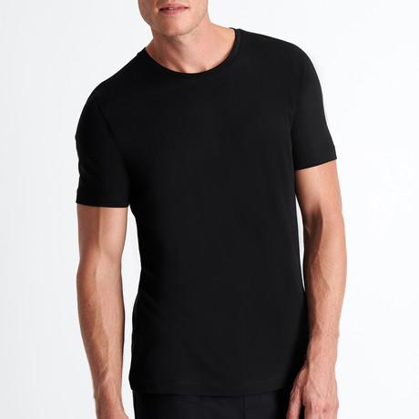 Justin Round Neck T-Shirt // Black (Small)