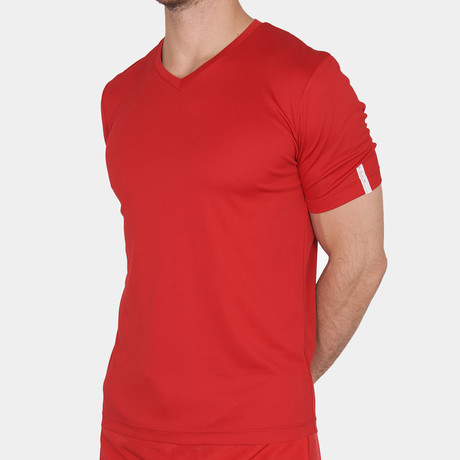 Paul V-Neck T-Shirt // Red (Small)