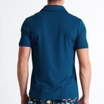 Jared Short Sleeve Polo // PetroliumBlue (Small)