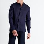 Mao Neck Shirt // Navy (Small)
