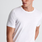 Aaron Round Neck T-Shirt // White  (Small)