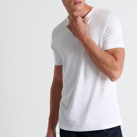Aaron Round Neck T-Shirt // White (Small)