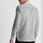Mao Neck Shirt // Pale Gray (Small)