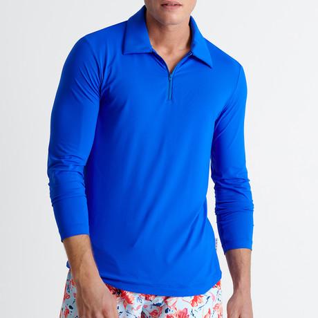 Elton Long Sleeve Polo // Mykonos (Small)