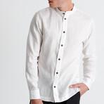 Mao Neck Shirt // White (Small)