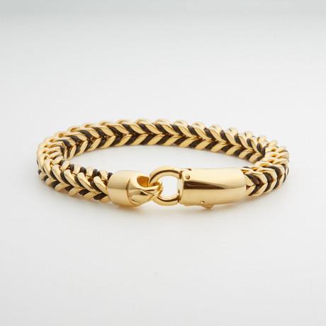 Dell Arte // Foxtail Link Bracelet // Gold + Black