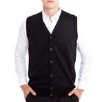 Chandler Sweater Vest // Black (Small)