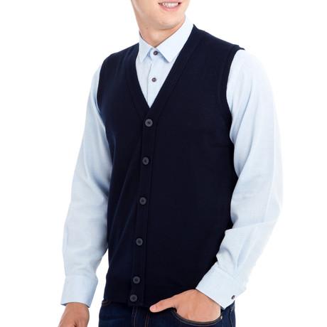 Chandler Sweater Vest // Dark Navy Blue (Small)
