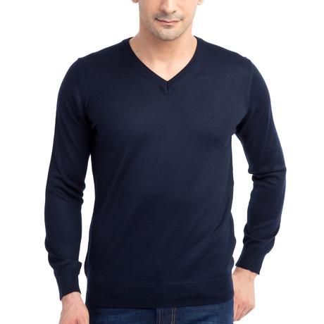 Dante Sweater // Dark Navy Blue (Small)
