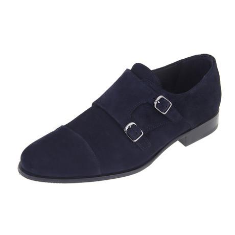 Monk Shoe // Navy (Euro: 40)