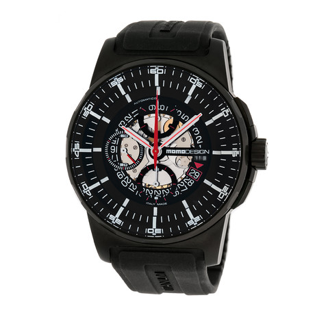 Momo Design Chronograph Automatic // MD276-BK-RB-04BK // Pre-Owned // 2744662