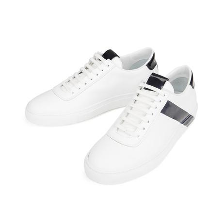Striped Court Sneakers // White + Navy (Euro: 39)