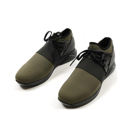 Lagoon Casual Sneakers // Olive + Black (Euro: 39)