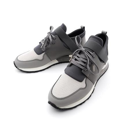 Elastic Strap Metallic Sneakers // Light Gray (Euro: 39)