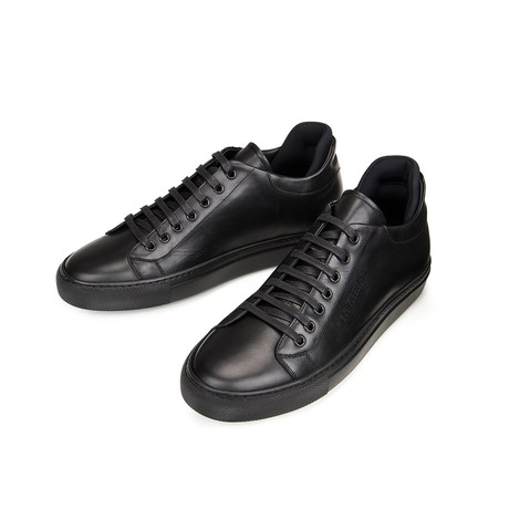 On Time Leather Sneakers // Black (Euro: 39)