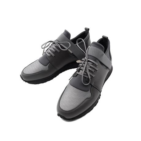 Elastic Strap Metallic Sneakers // Dark Gray (Euro: 39)