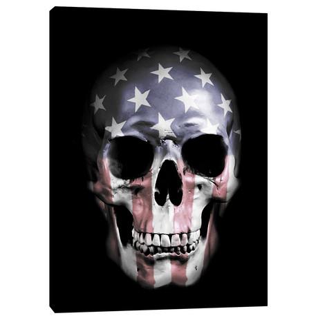 """American Skull (18""""W x 26""""H x 0.75""""D)"""