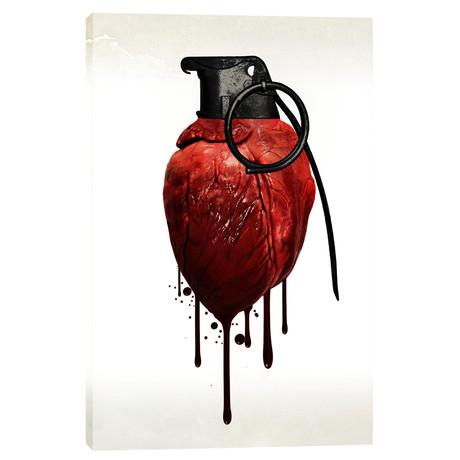 """Heart Grenade (18""""W x 26""""H x 0.75""""D)"""