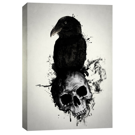 """Raven and Skull (18""""W x 26""""H x 0.75""""D)"""