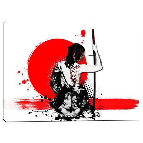 """Trash Polka- Female Samurai (26""""W x 18""""H x 0.75""""D)"""