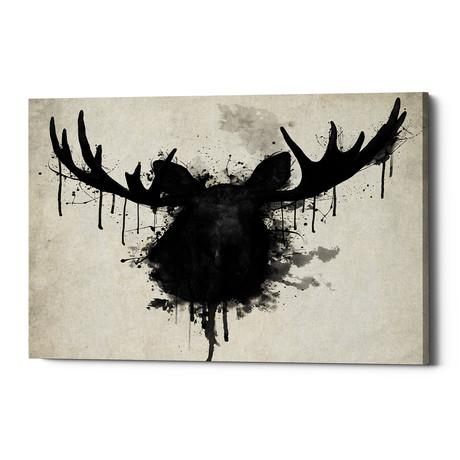 """Moose (26""""W x 18""""H x 0.75""""D)"""