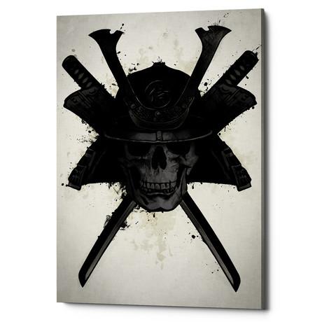 "Samurai Skull (18""W x 26""H x 0.75""D)"