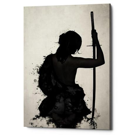 """Female Samurai - Onna Bugeisha (18""""W x 26""""H x 0.75""""D)"""