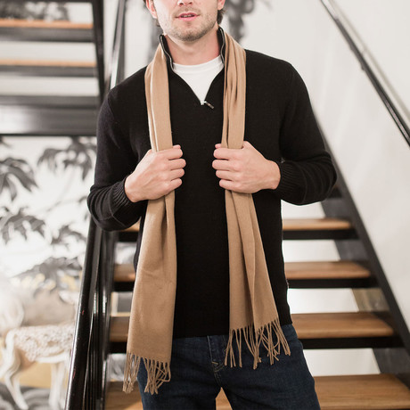 Lambswool Scarf // Camel