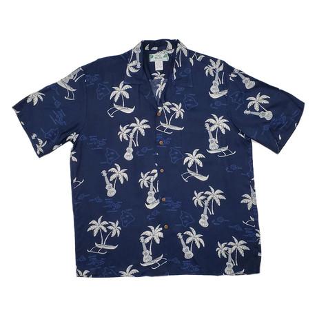 Islands Shirt // Navy (Small)