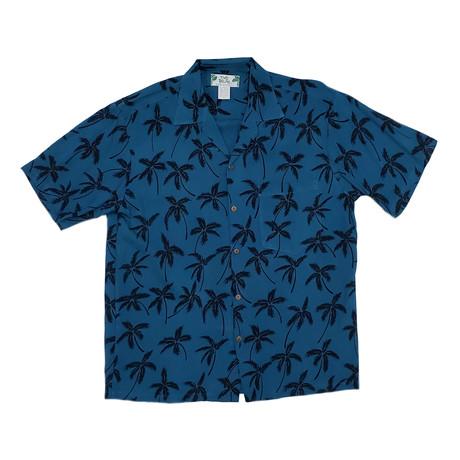 Palm Tree Shirt // Blue (Small)